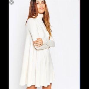 Asos White Turtleneck Dress
